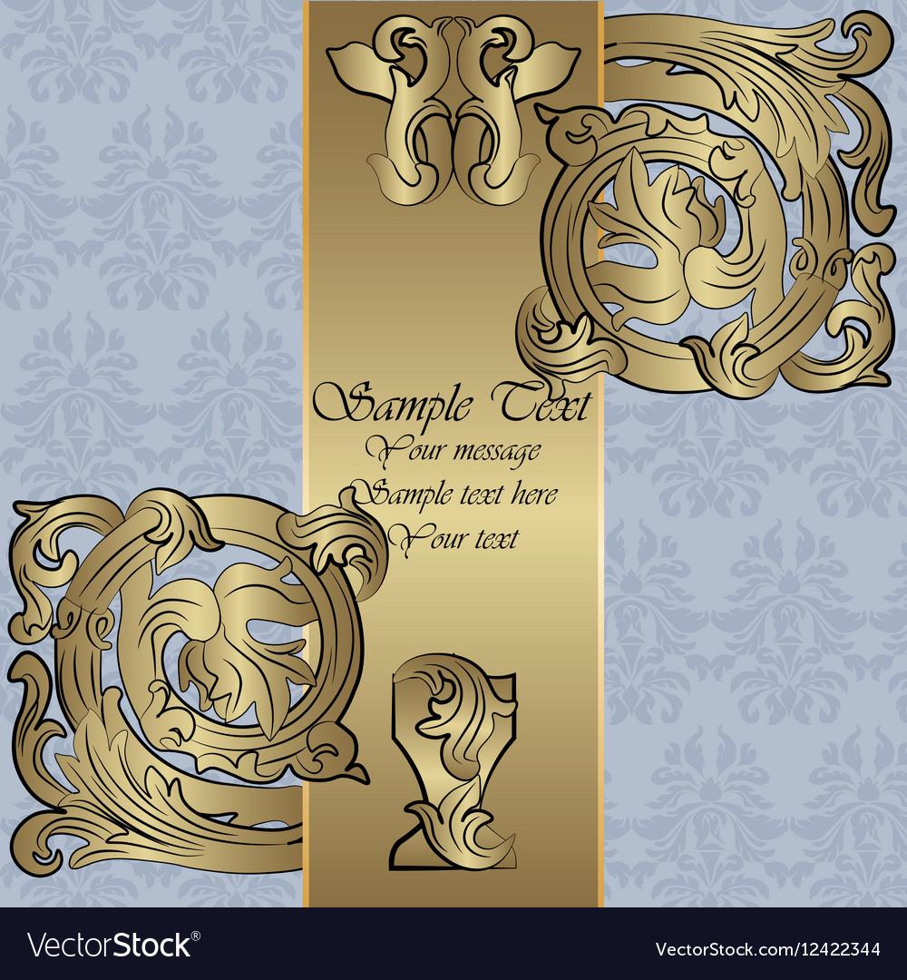 Renaissance royal classic ornament invitation vector image stopboris Images