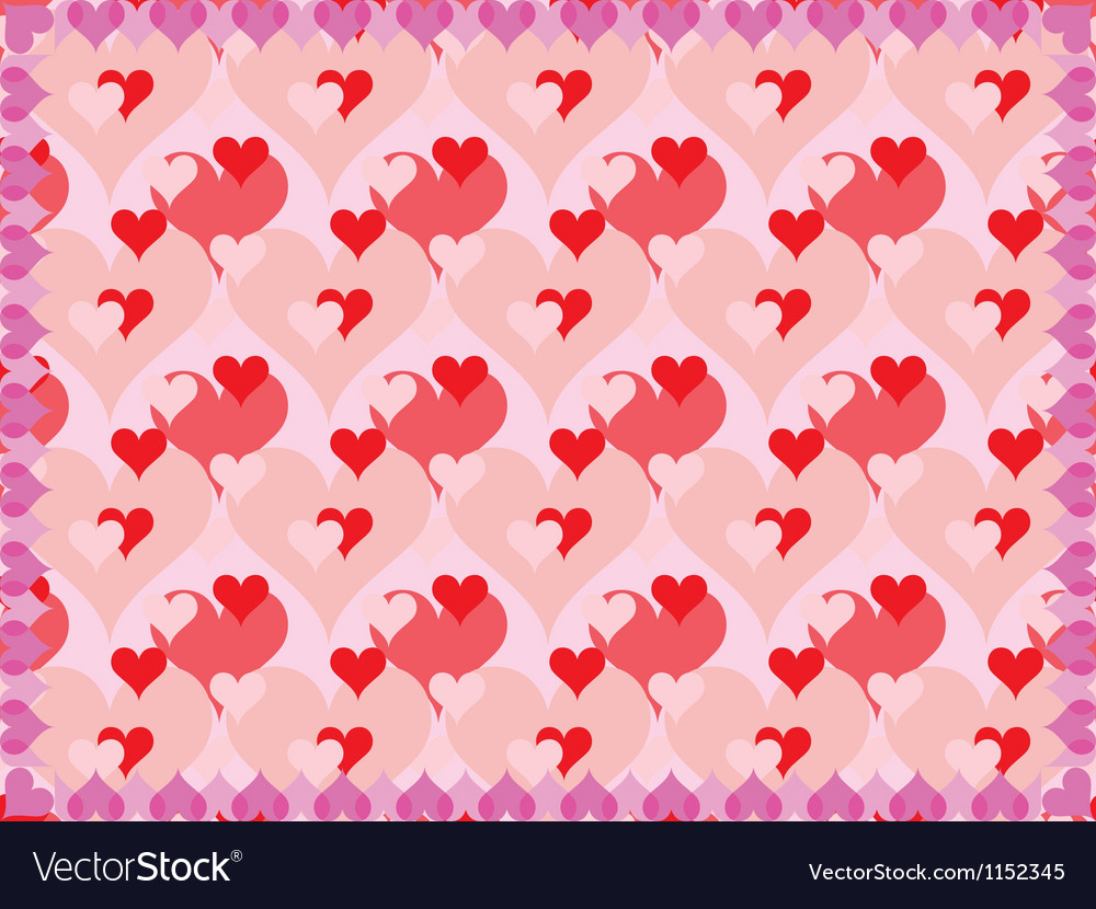 Background for Day of Valentine vector image