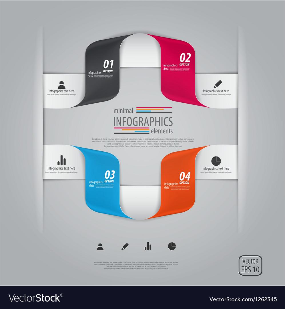 Infographics design 8 vector image