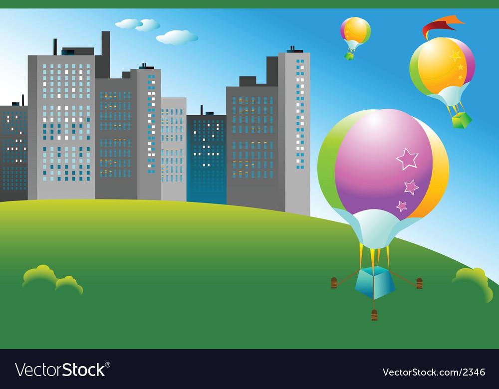 Ballooning vector image