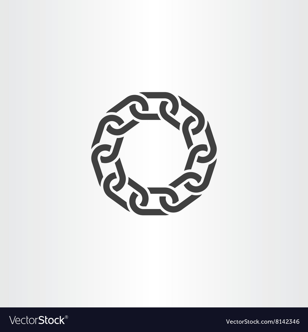 Chain Link Vector black chain link circle icon symbol royalty free vector