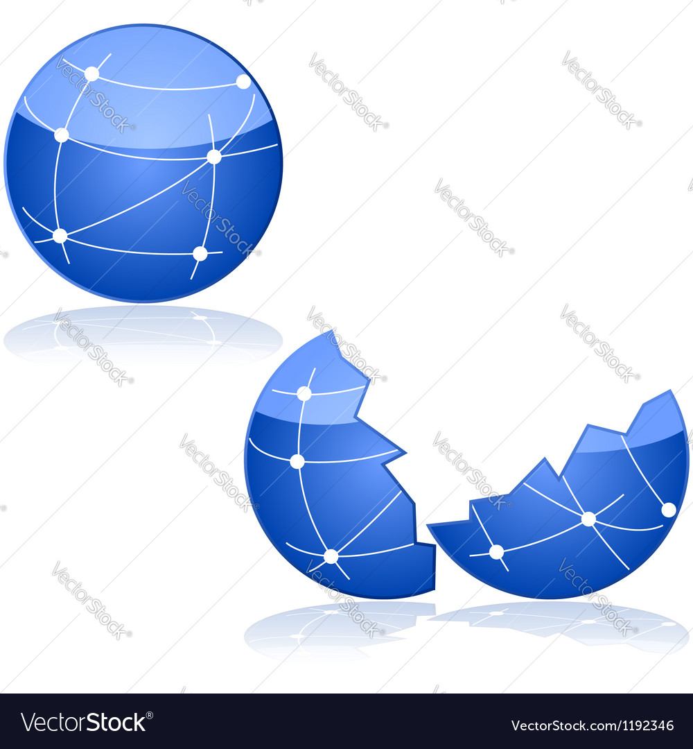 Network down vector image