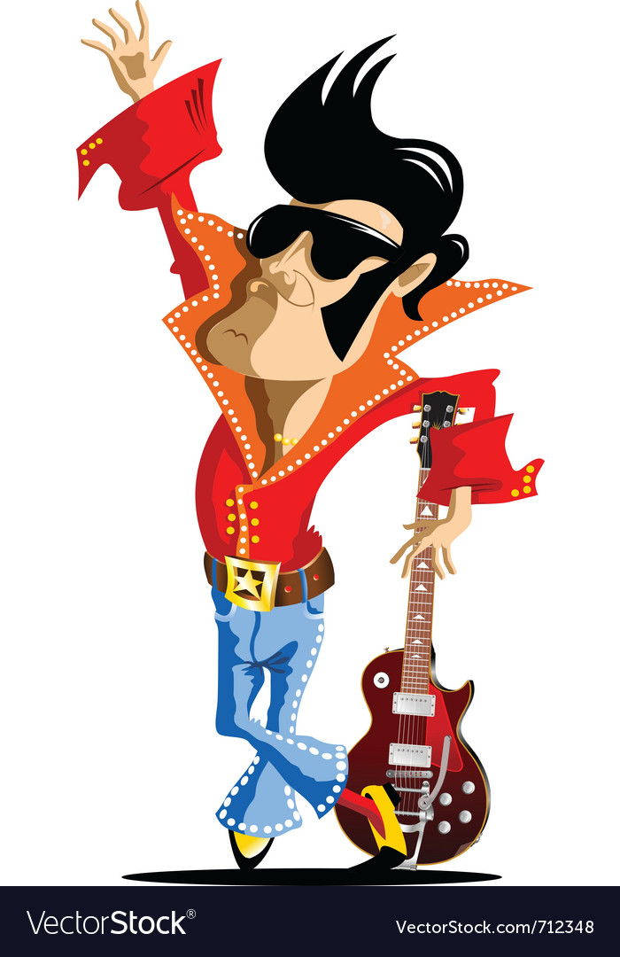 Elvis cartoon vector image