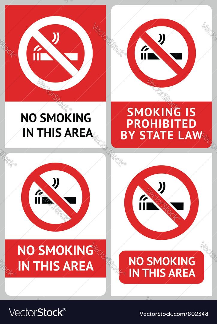 Label set no smoking vector image