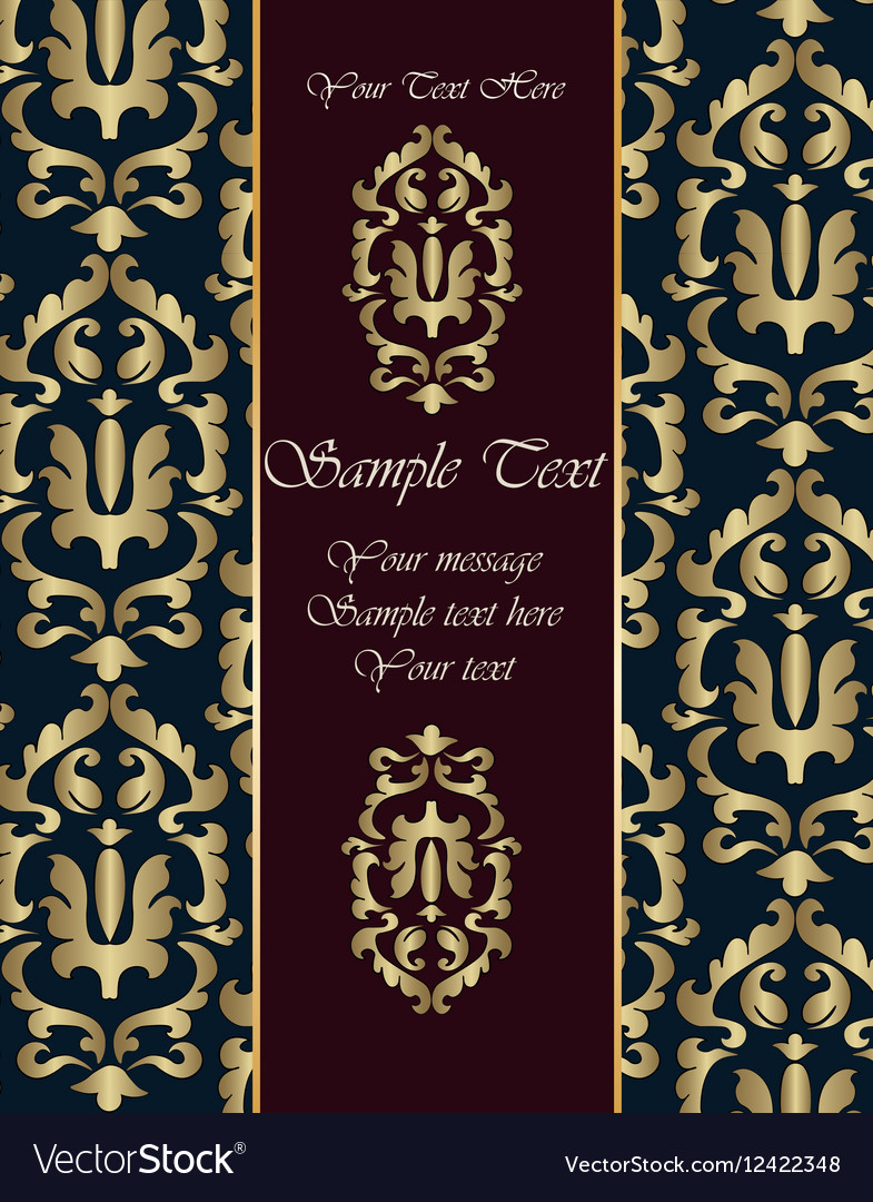 Renaissance royal classic ornament invitation vector image stopboris Image collections