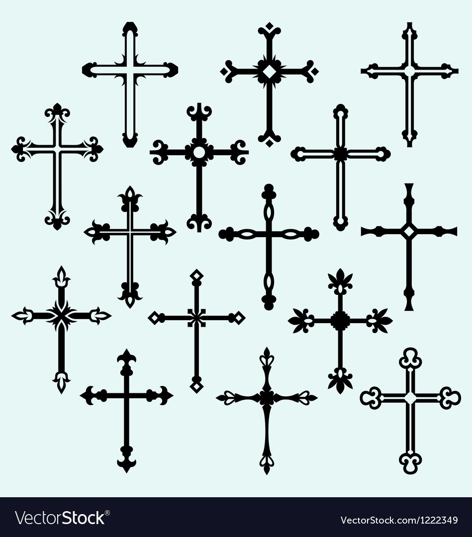Cross set vector image