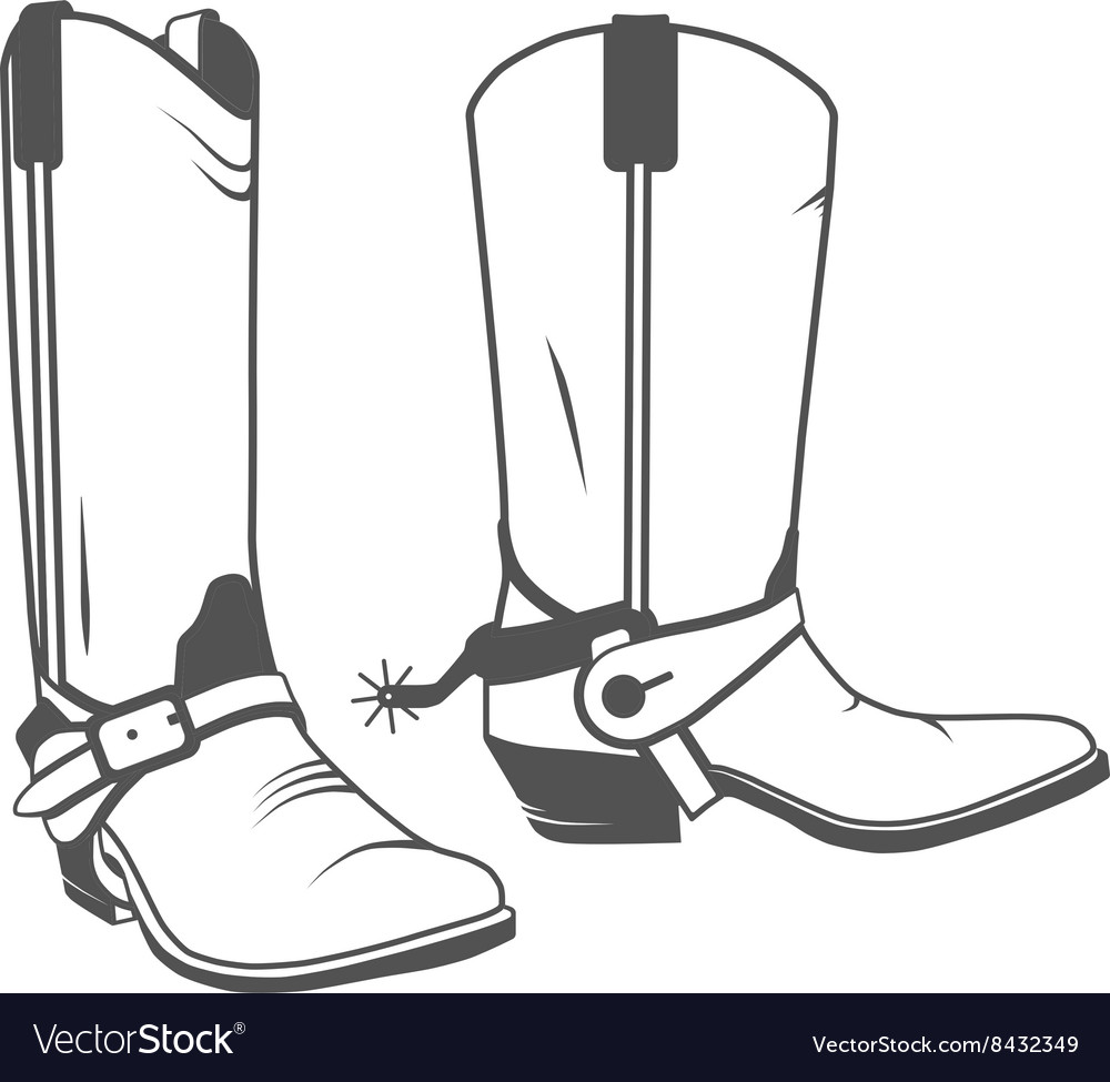 Cowboy Boot Western vector image