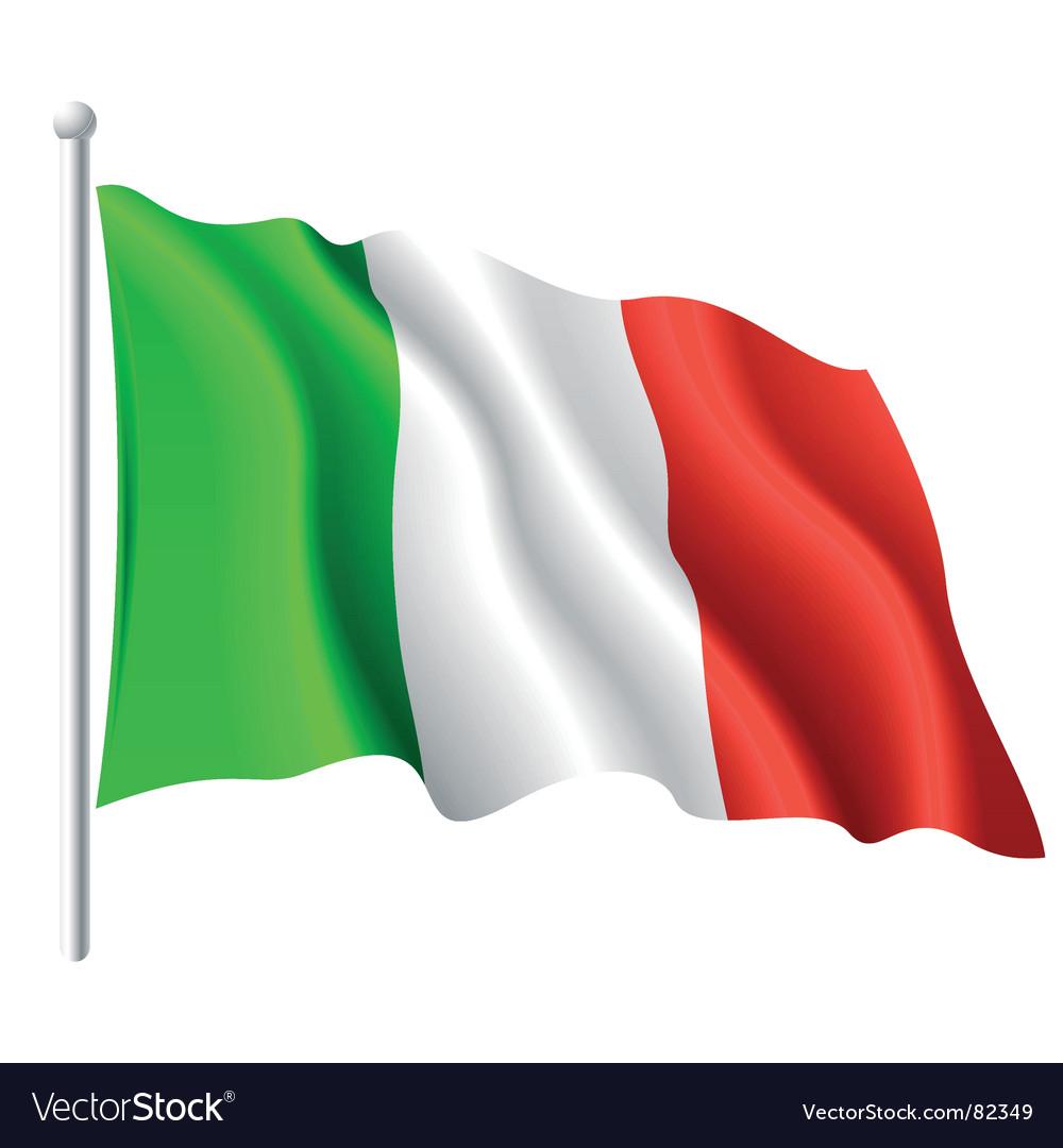 Flag of iIaly vector image