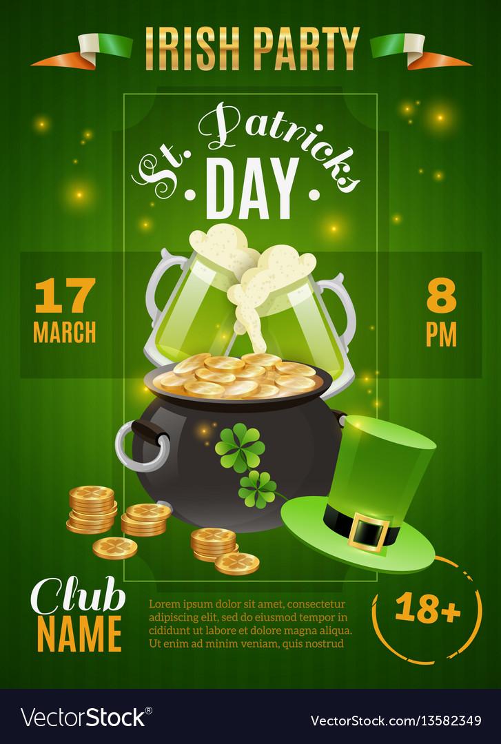Saint patricks day poster vector image