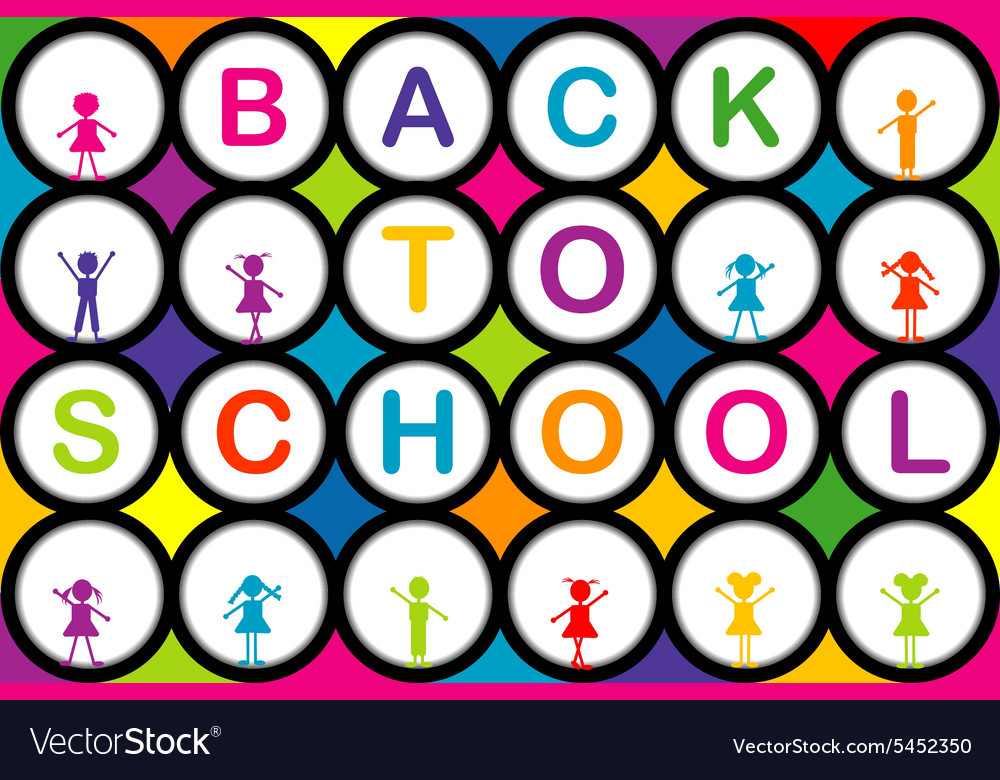 BACK TO SCHOLL vector image
