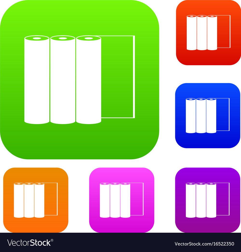 Rolls of paper set collection vector image