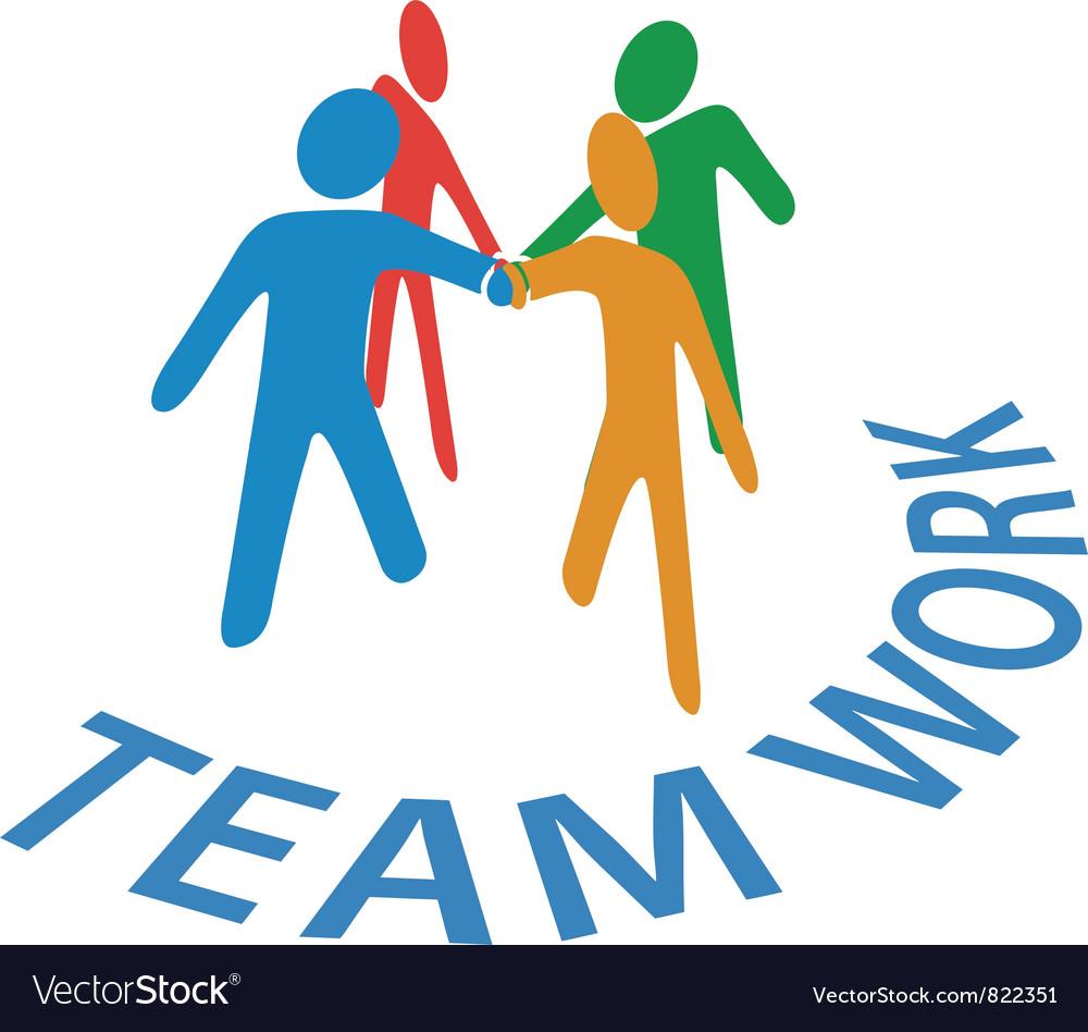 Teamwork Collaboration Vector Image