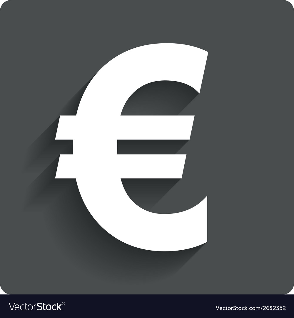 Euro sign icon eur currency symbol royalty free vector image euro sign icon eur currency symbol vector image buycottarizona Image collections