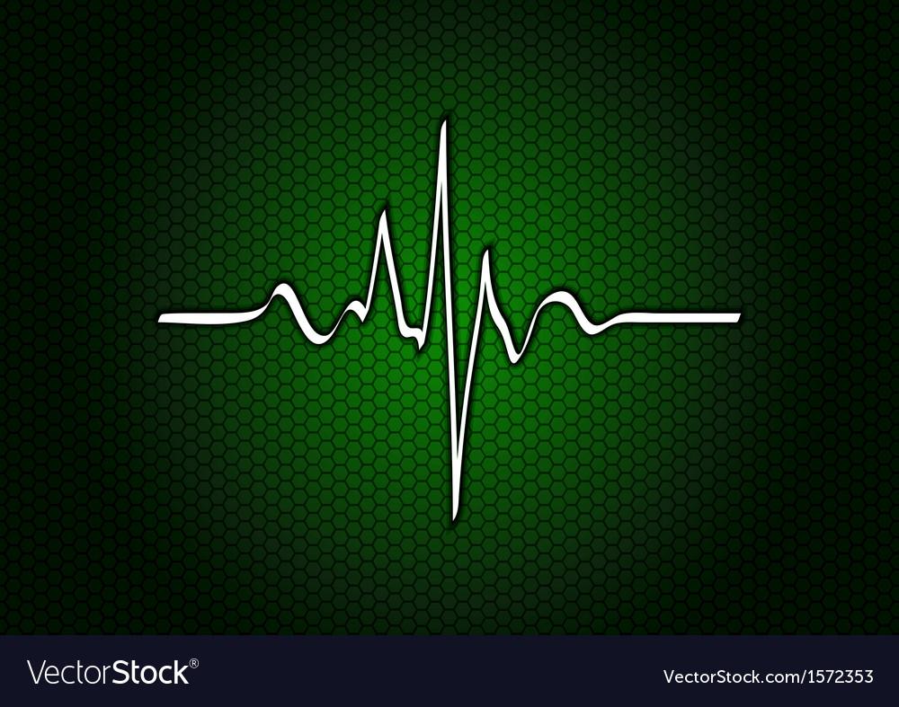 Abstract green cardio vector image