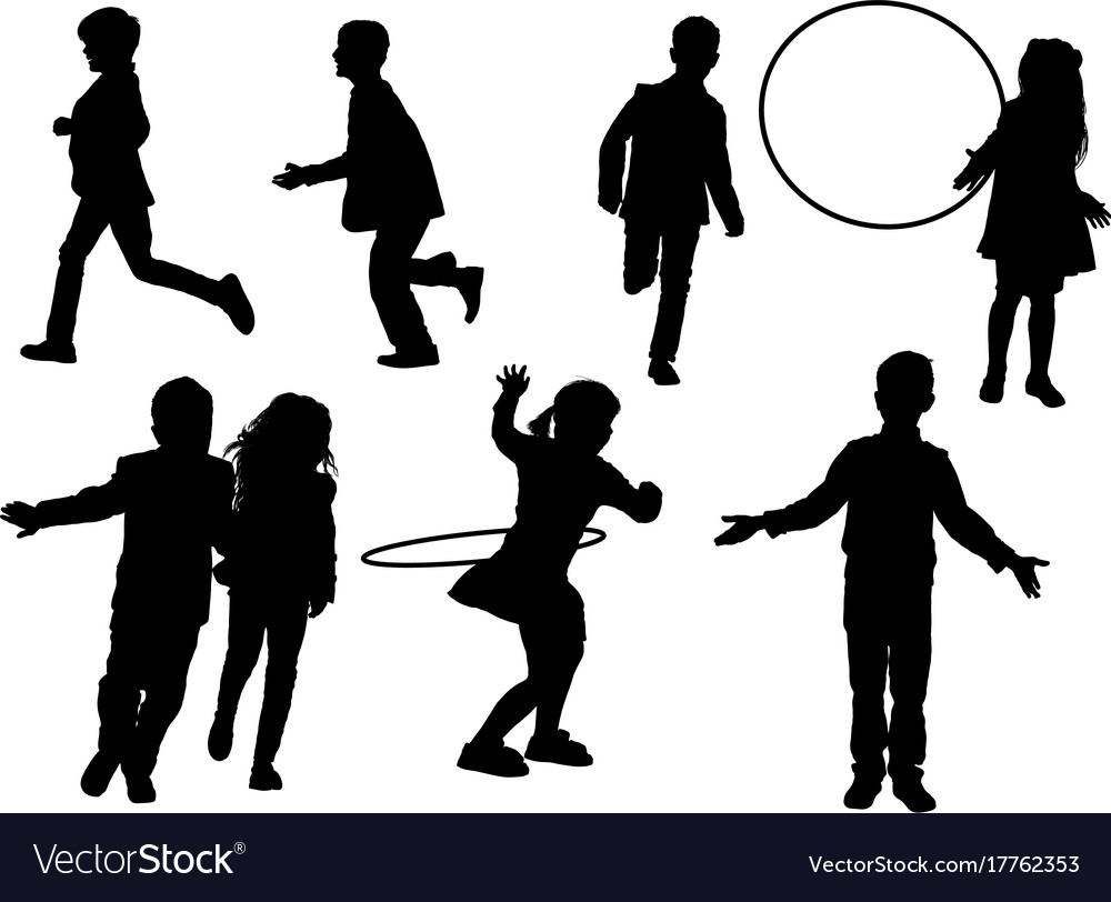 Children indulge vector image