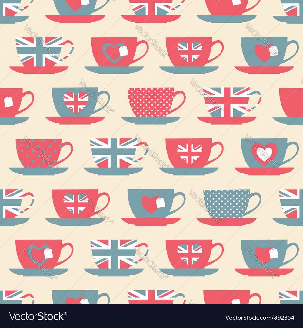 British teatime vector image