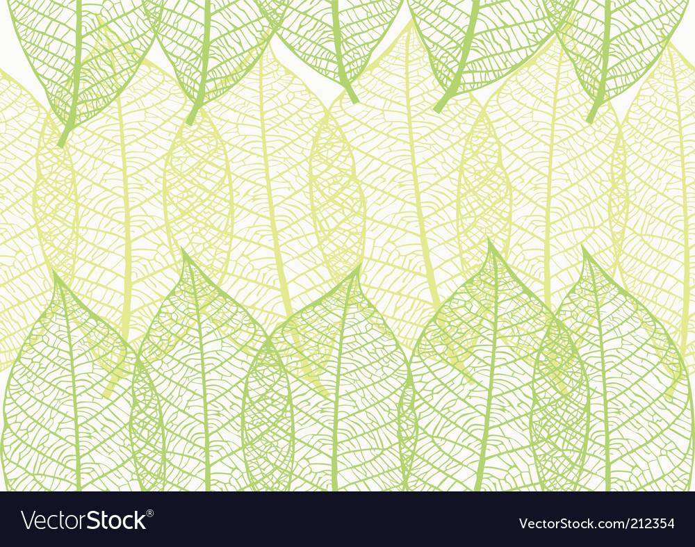 Wonderful Leaves Wallpaper Vector Image