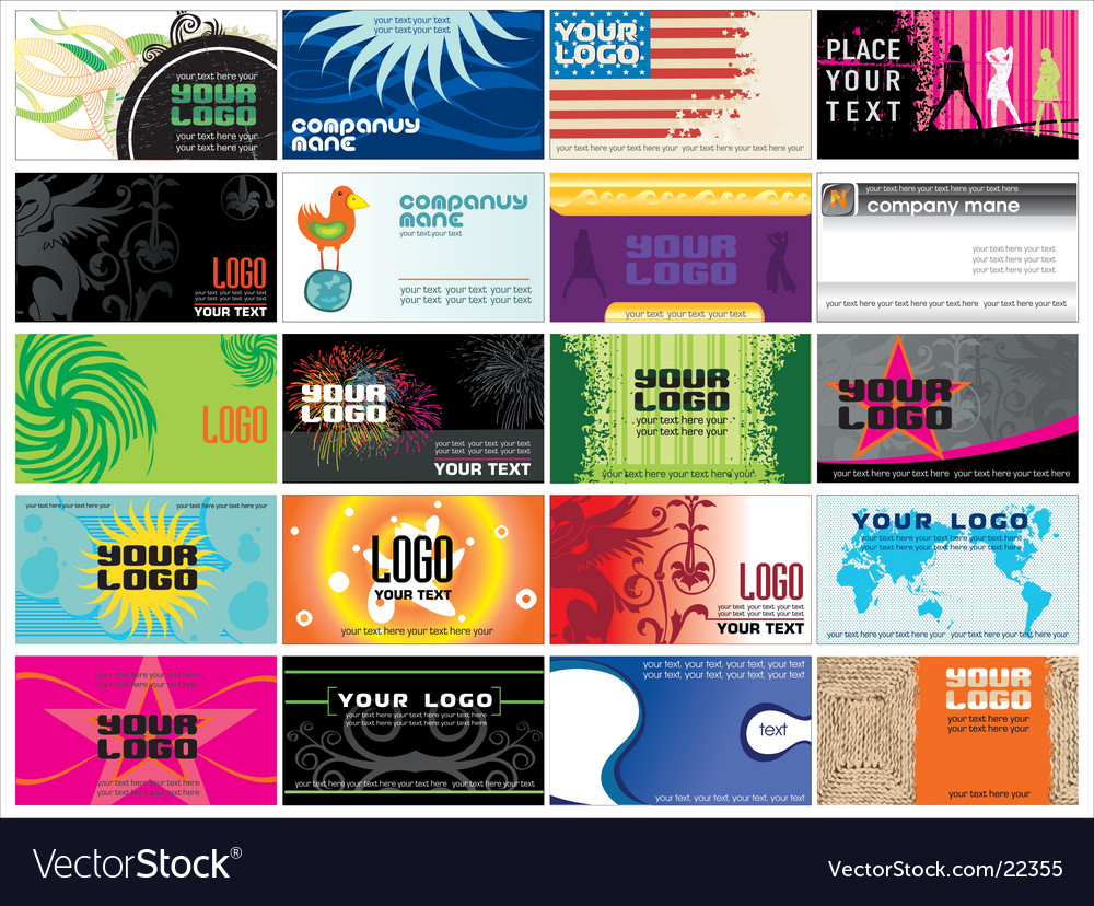 Collection business cards templates Vector Image