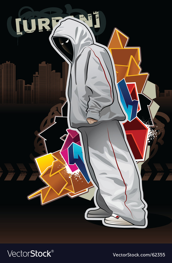 Urban gangster 5 x Vector Image
