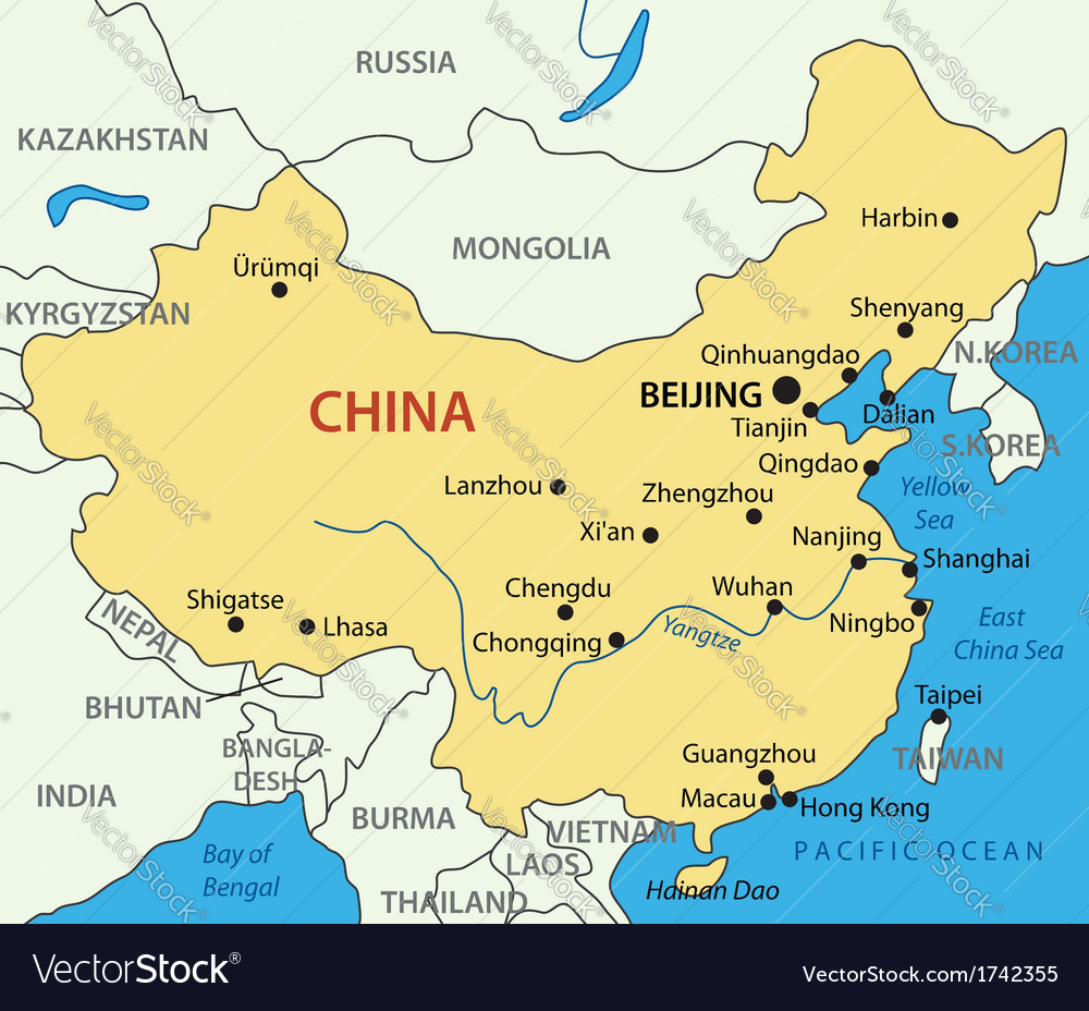Peoples republic of china map royalty free vector image peoples republic of china map vector image gumiabroncs Choice Image