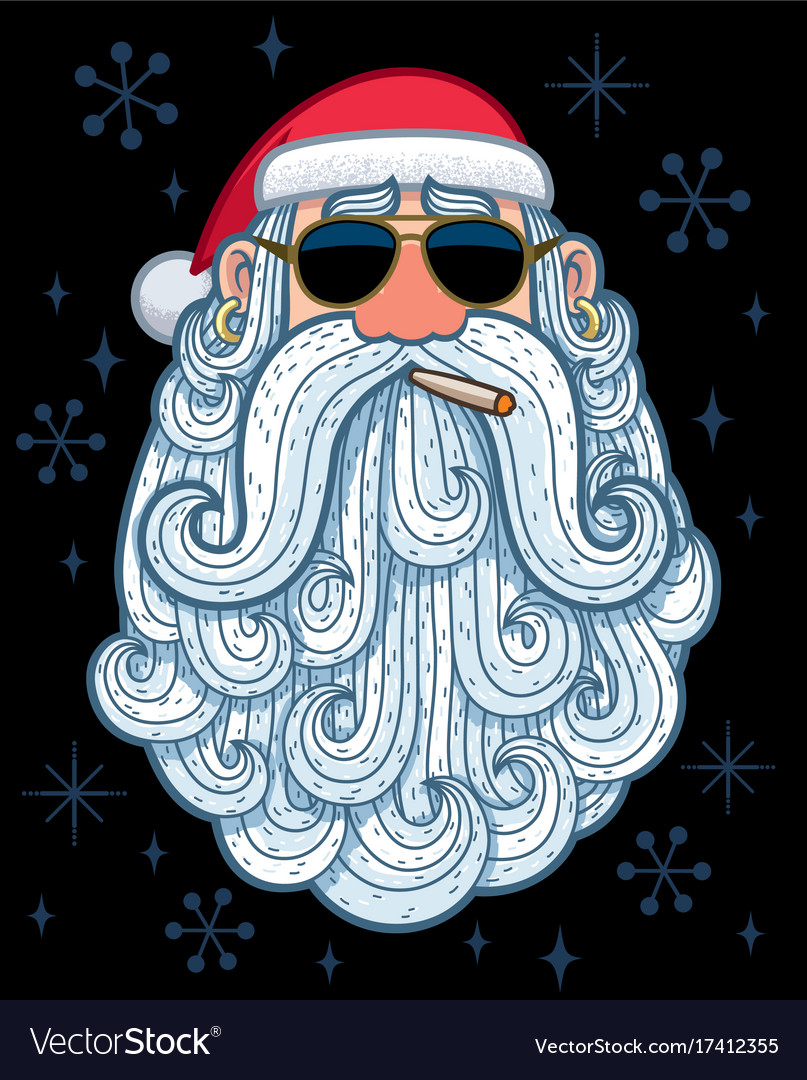 Santa portrait 3 - cool vector image