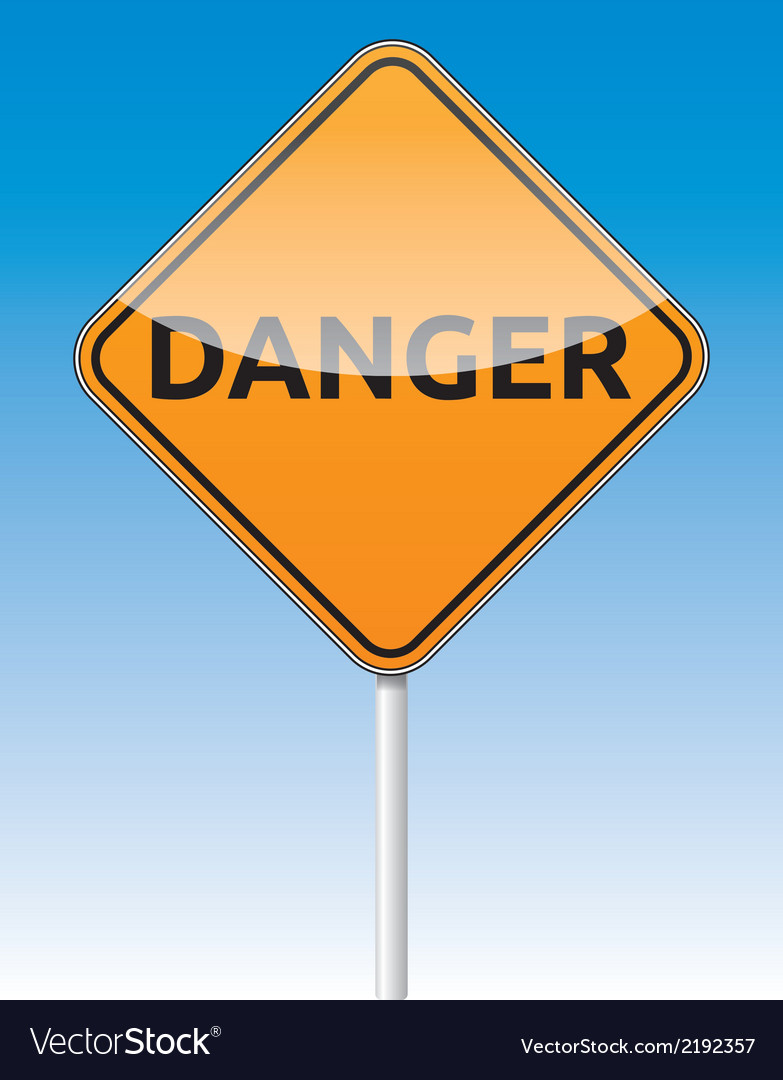 Danger traffic board vector image
