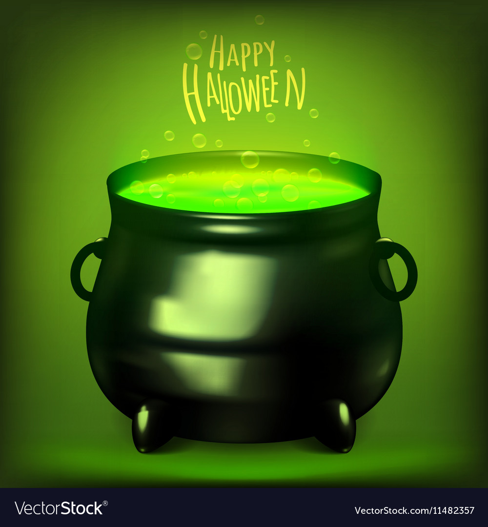 Halloween Witches Cauldron Drawing Royalty Free Vector Image