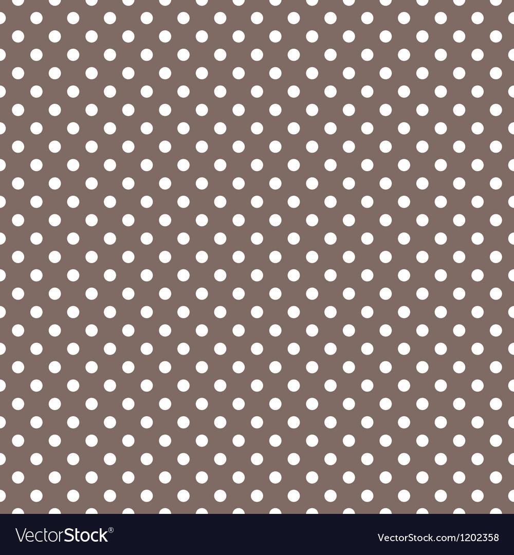 Seamless pattern white polka dots dark background vector image
