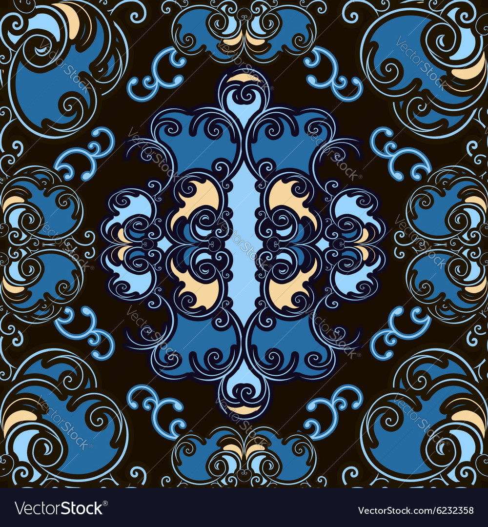 Colored ornamental seamless pattern vector image