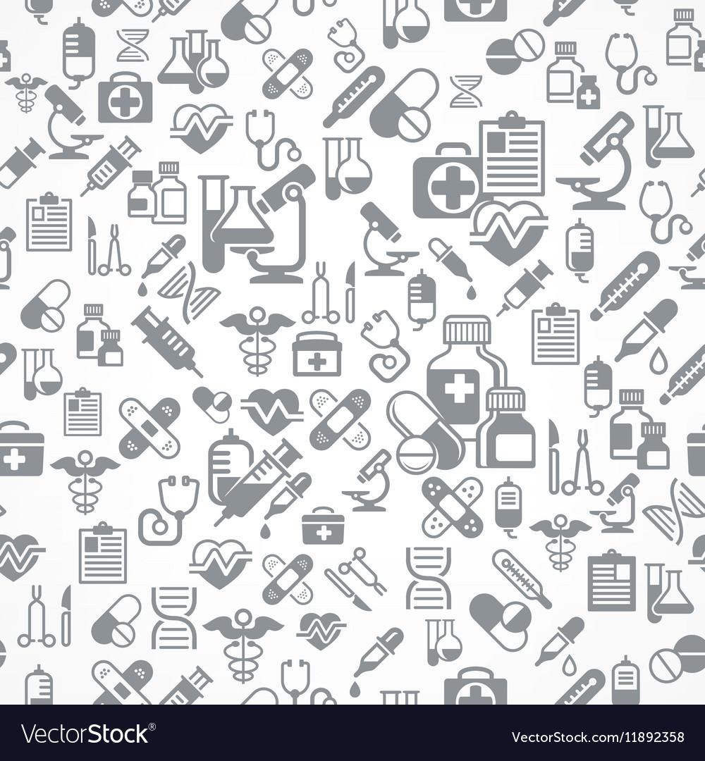 Medical background in grey vector image