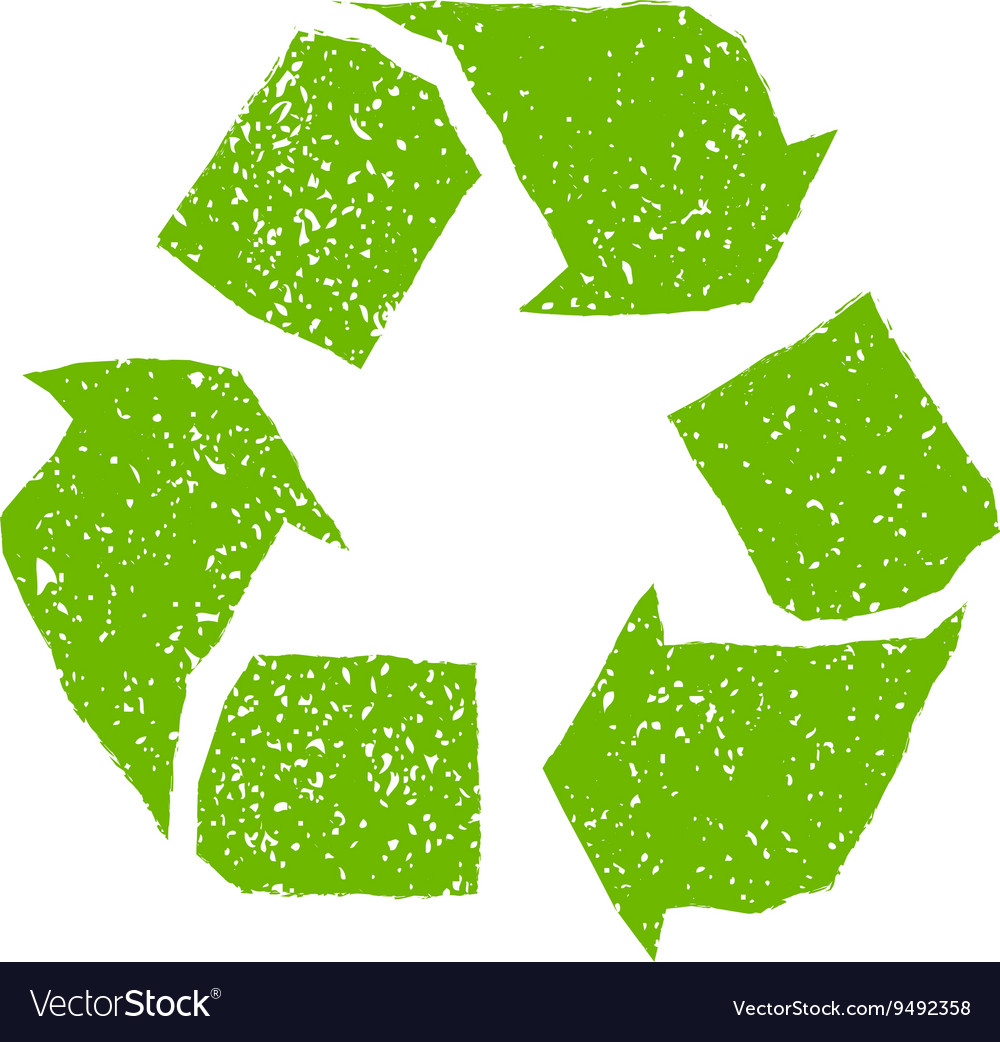 Sign recycling vector image