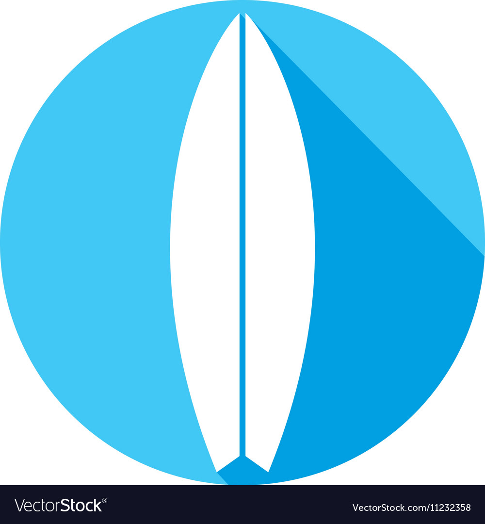Surfboard Icon vector image