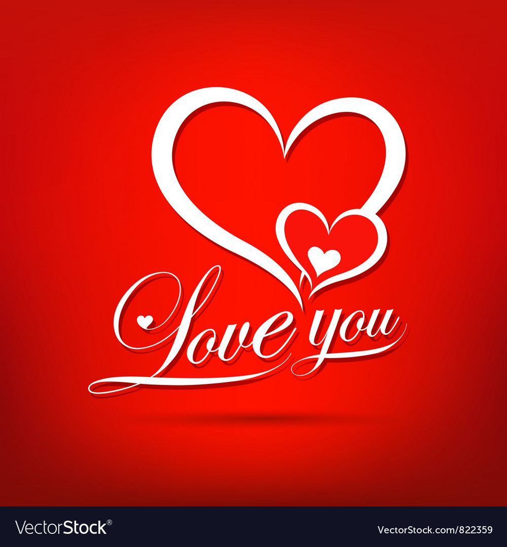 Love you valentine day vector image