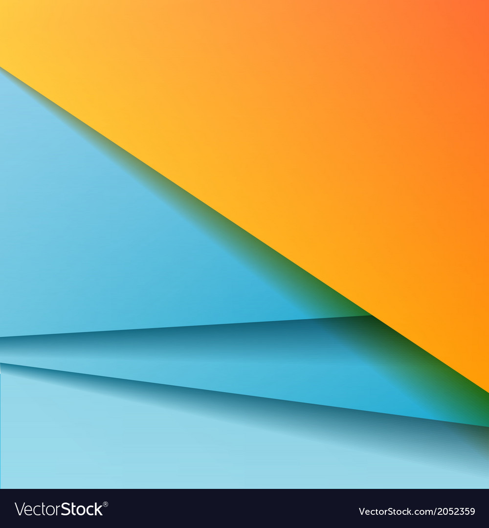 Background with blue paper vector image
