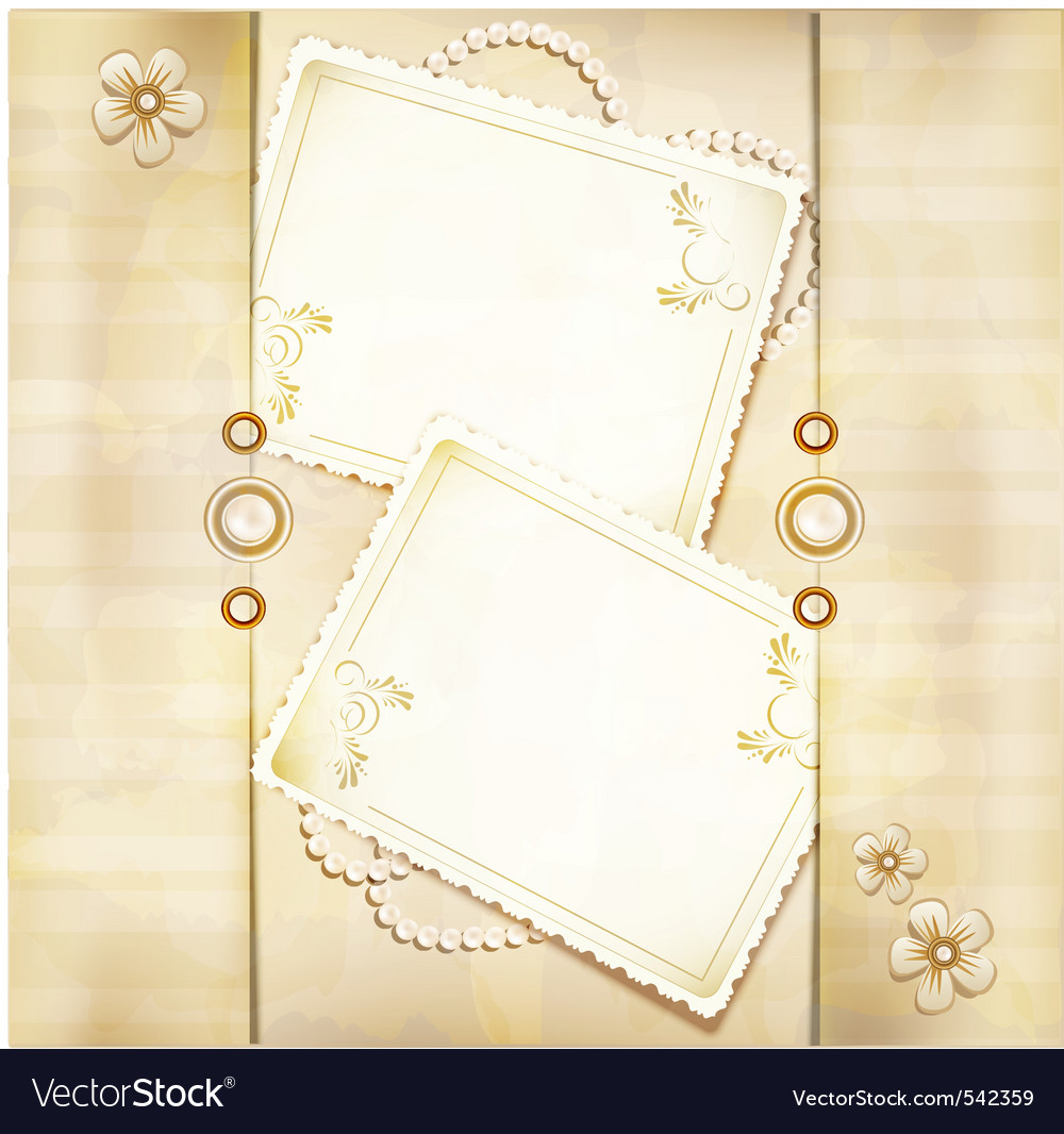 Congratulation gold retro background vector image