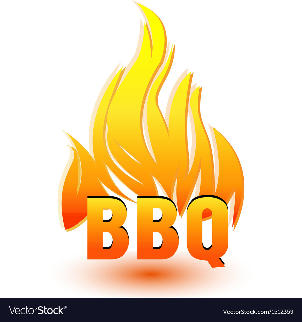 Hot barbecue logo vector image