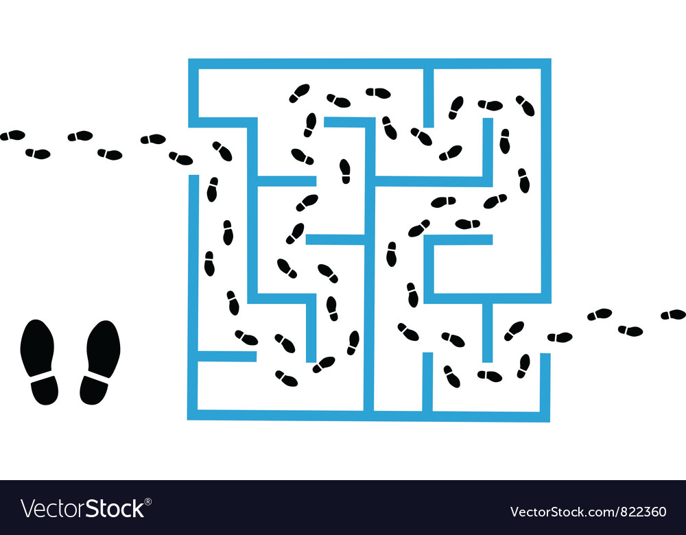 Maze Solutions Vector Image