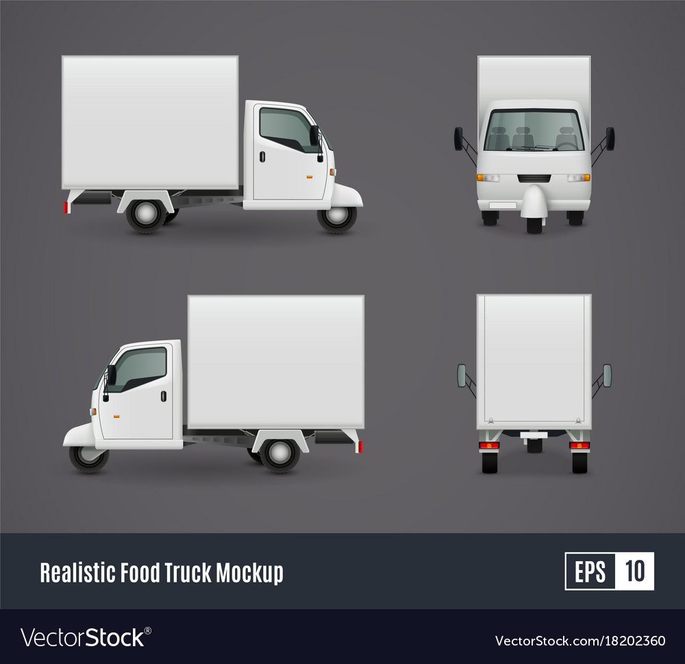 Small food truck template royalty free vector image small food truck template vector image pronofoot35fo Images