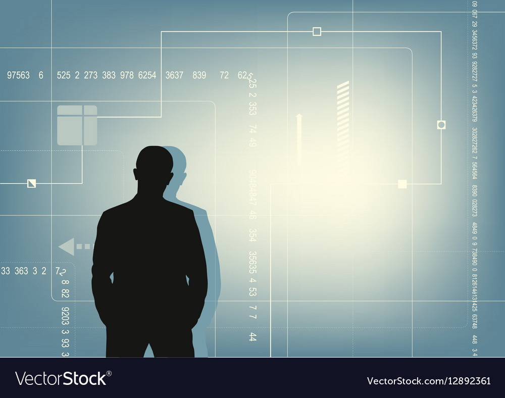 Abstract technology communication concept and the vector image