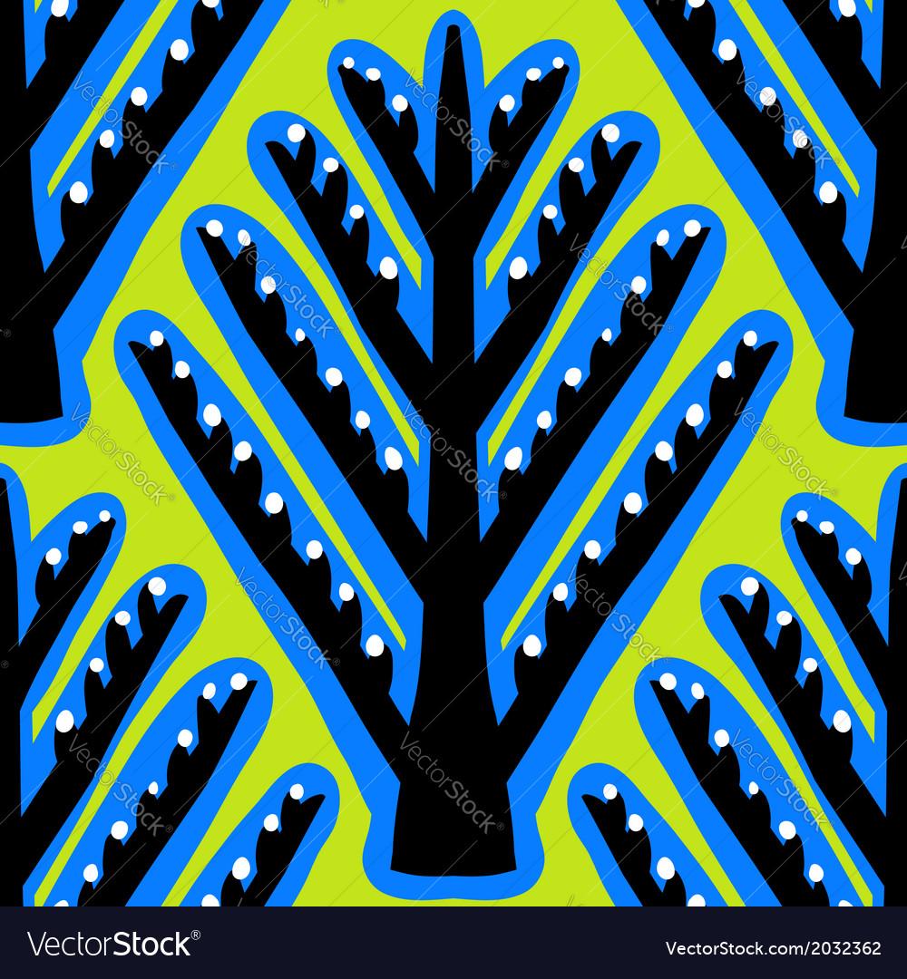 Ikat ethnic pattern with Kazakh motifs vector image