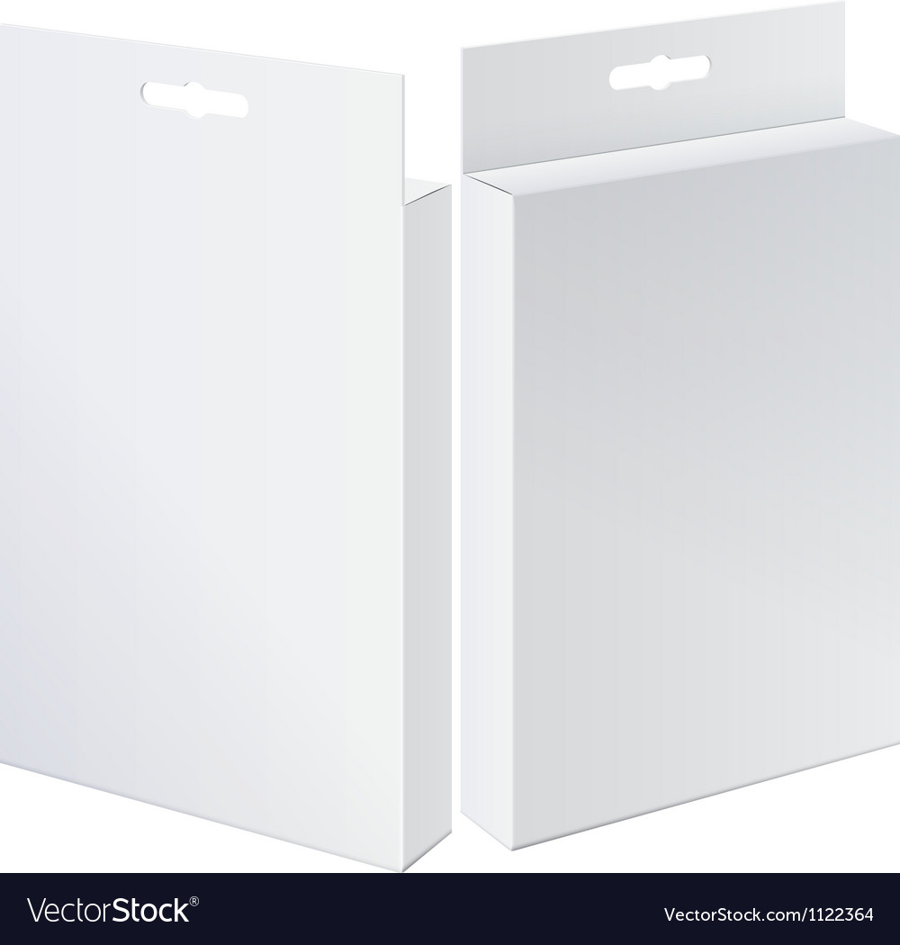 Cool Realistic Two Package Cardboard Box Front and vector image
