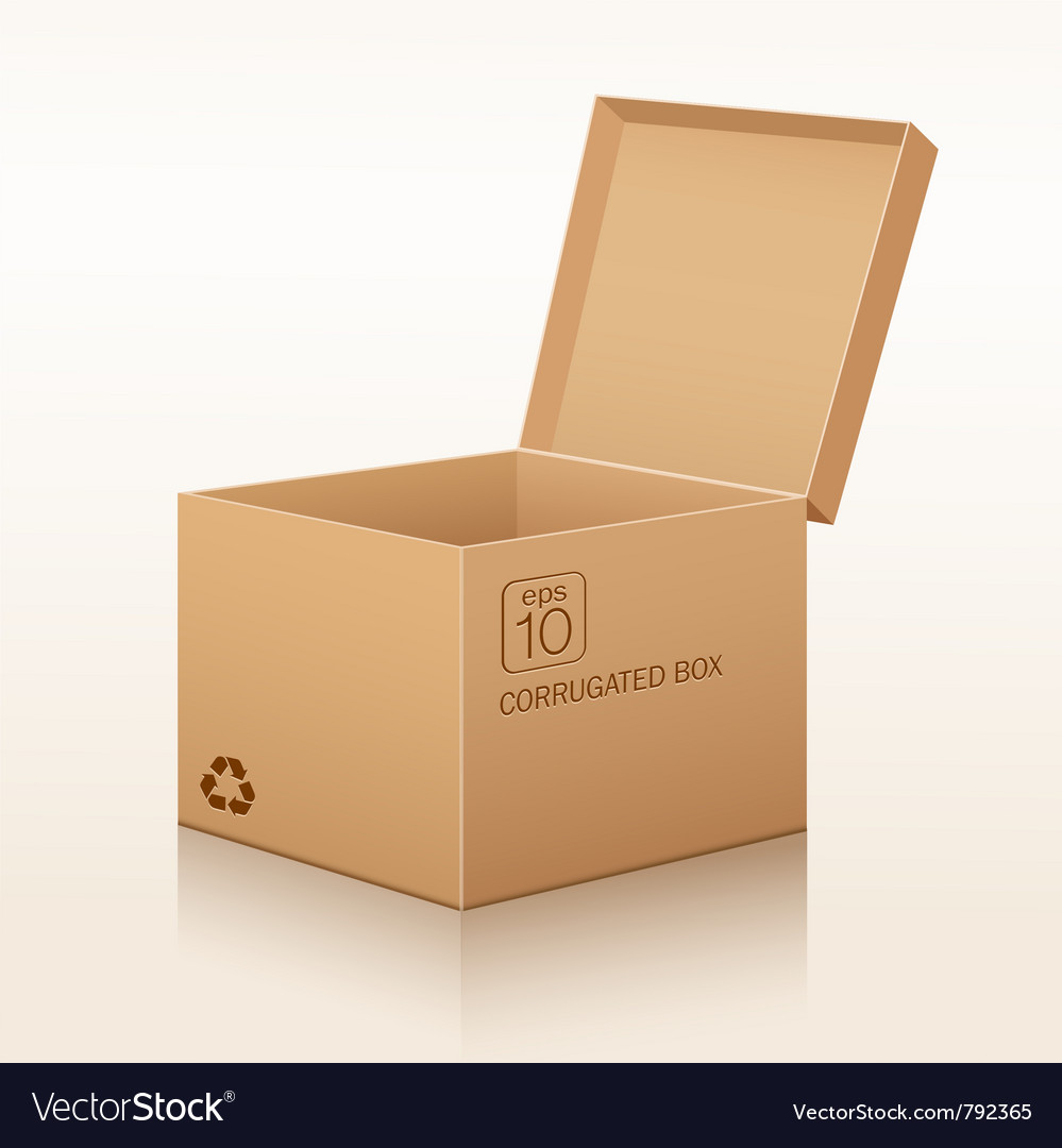Corrugated box recycle vector image