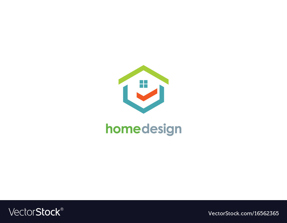 Home design logo vector image