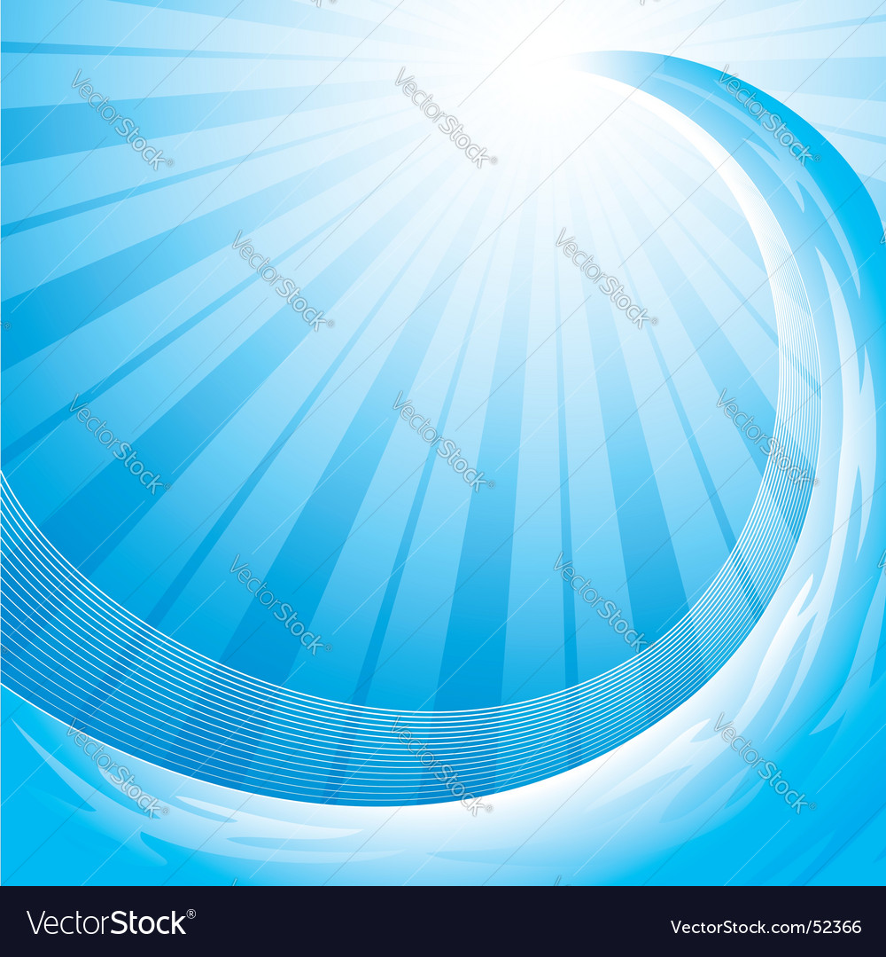 Ocean wave background vector image