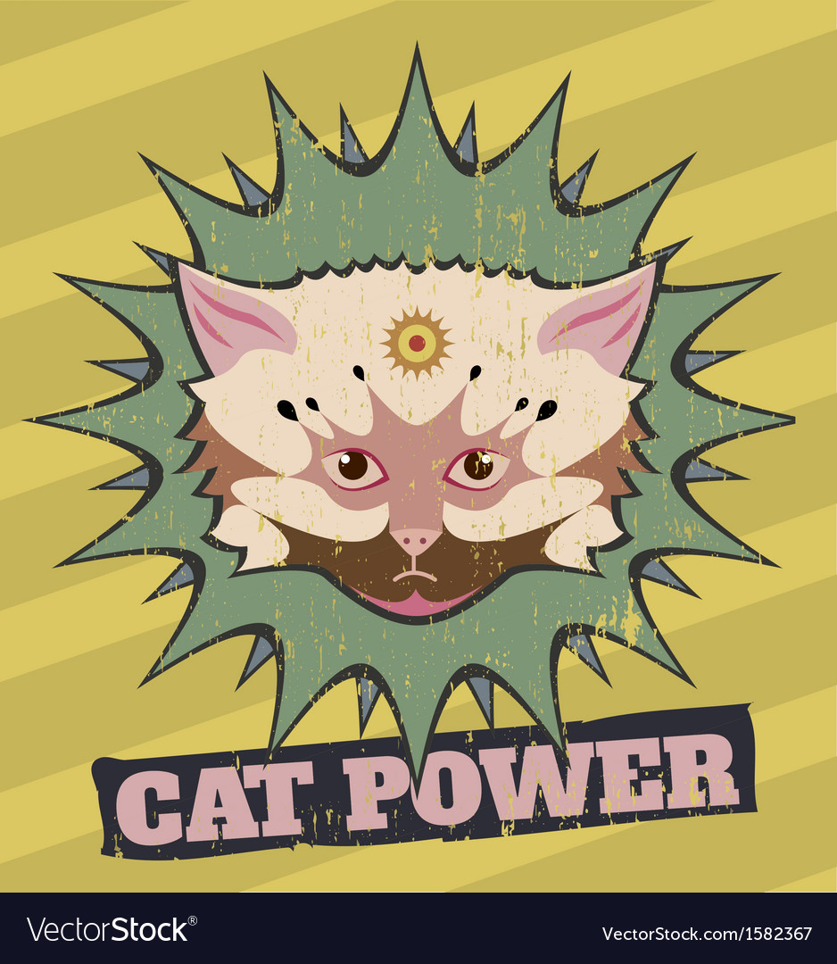 Cat power vector image