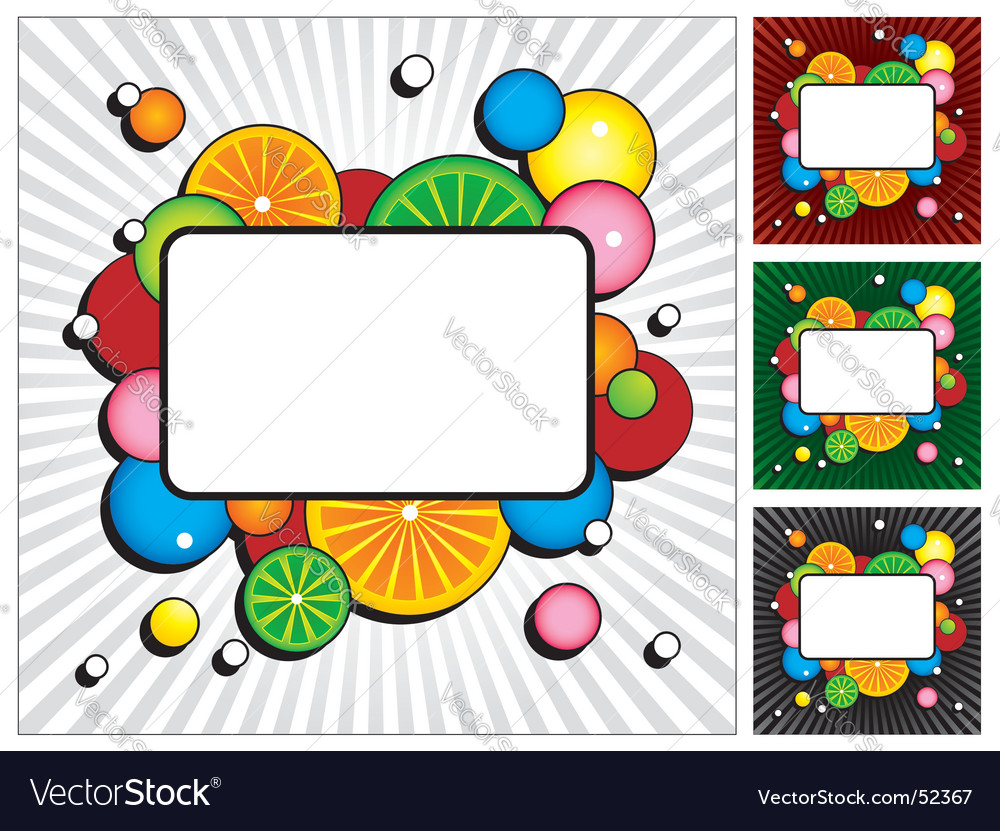 Cocktail invites vector image