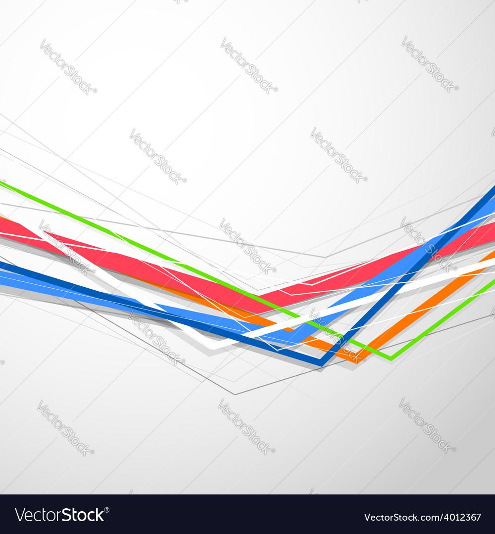 Colorful bright lines modern folder design vector image