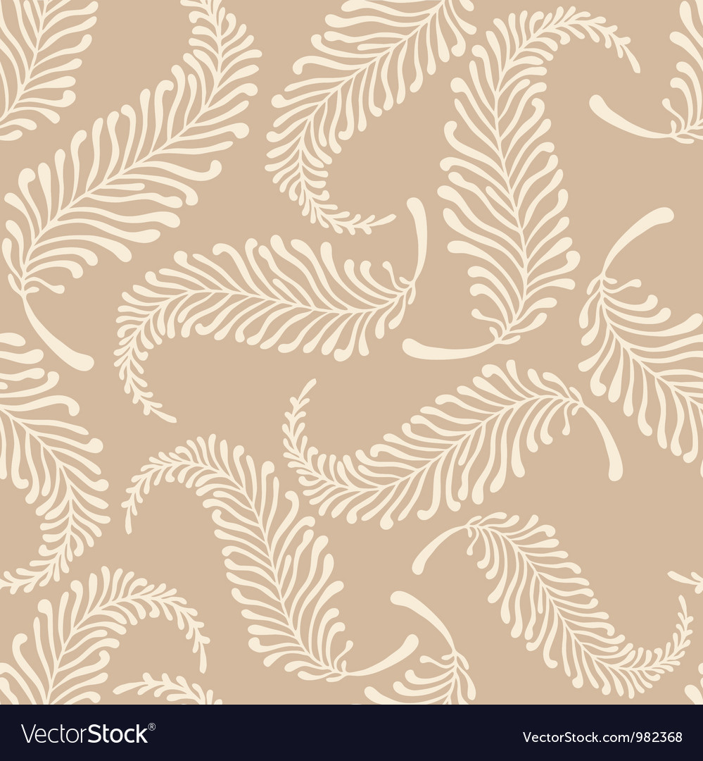 White feathers pattern vector image