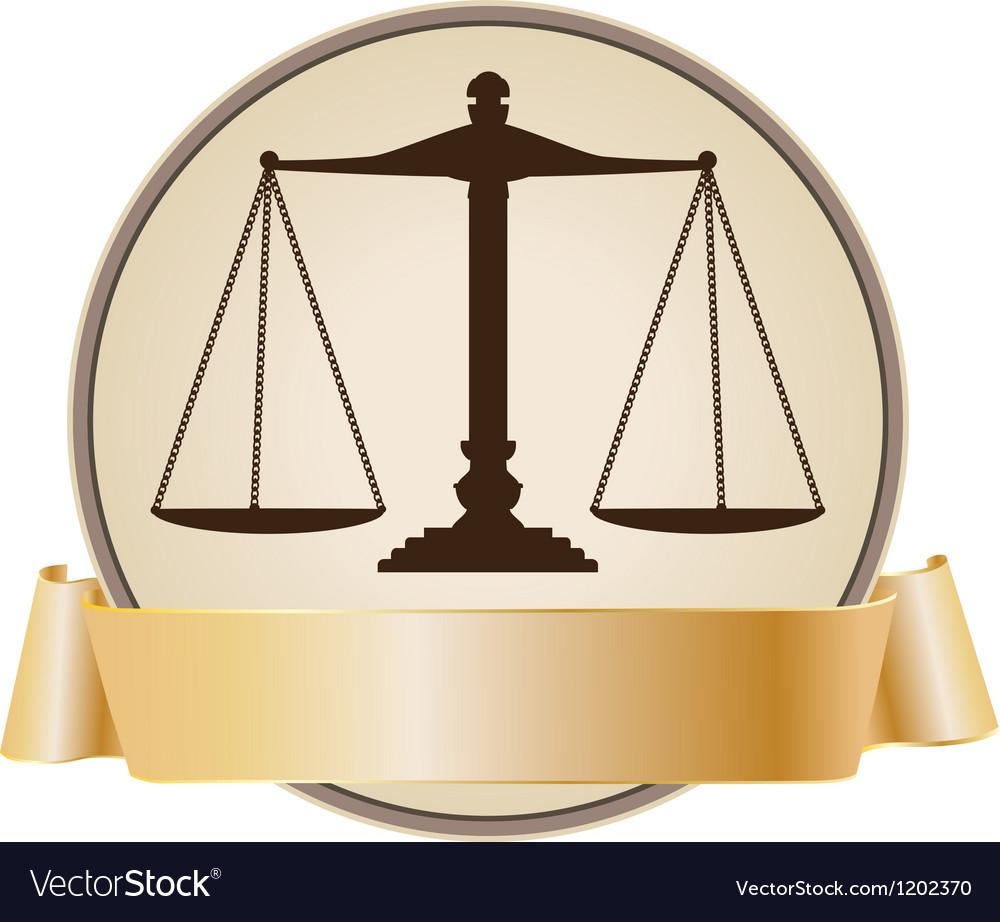 Justice symbol vector image