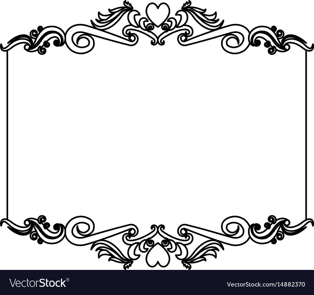 Black Flower Decorative Frame Vectors Material 04 Free: Decorative Card Frame Floral Border Cute Image Vector Image